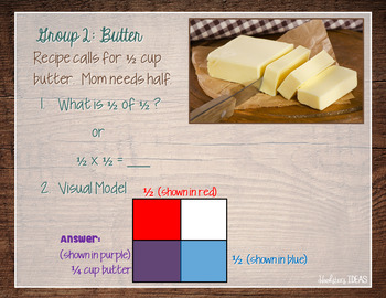 Multiplying Fractions PowerPoint and Student Worksheets BUNDLE