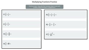 Multiplying Fractions Practice (PowerPoint Lesson with Printables!)