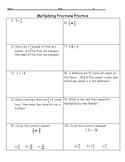 Multiplying Fractions Practice