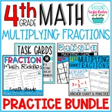 Multiplying Fractions Practice BUNDLE 4th Grade
