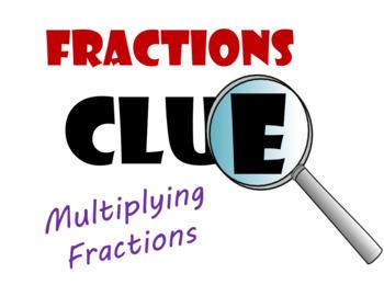 Multiplying Fractions Pre-Algebra Clue Game