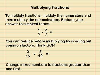 Multiplying Fractions Presentation