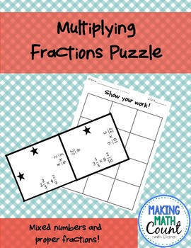 Multiplying Fractions Puzzle