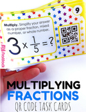 Multiplying Fractions Task Cards with QR Codes - 4.NF.B.4