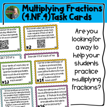 Multiplying Fractions QR Task Cards
