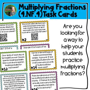 Multiplying Fractions QR Task Cards