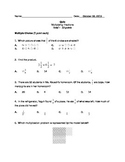 Multiplying Fractions Quiz