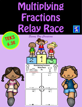 Multiplying Fractions Relay Race