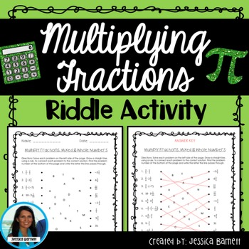 Multiplying Fractions Riddle Activity