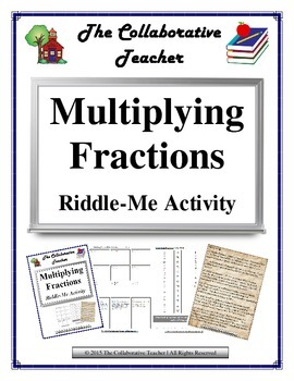 Multiplying Fractions Riddle-Me Activity