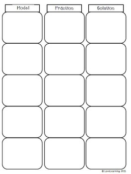 Multiplying Fractions SORT {includes 2 additional differentiated resources}