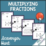 Multiplying Fractions Activity - Scavenger Hunt