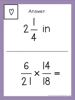 Multiplying Fractions Activity - Scavenger Hunt