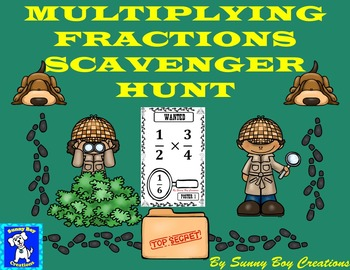 Multiplying Fractions Scavenger Hunt