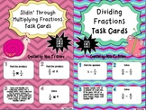 Multiplying Fractions Set of Task Cards AND Dividing Fract
