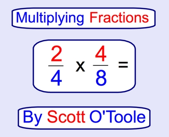 Multiplying Fractions Smartboard Math Lesson