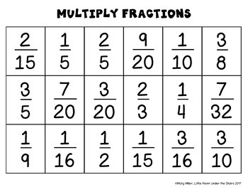 Multiplying Fractions Solve, Color, Cut