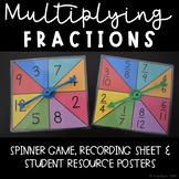 Multiplying Fractions Spinner Game
