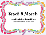 Multiplying Fractions Stack & Match Game