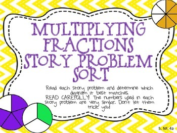 Multiplying Fractions Story Problem Sort
