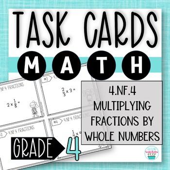 Multiplying Fractions TASK CARDS | 4th Grade