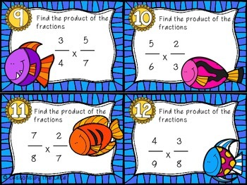 Multiplying Fractions Task Card
