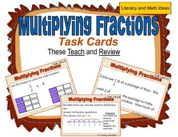 Multiplying Fractions Task Cards