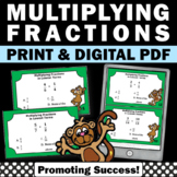 Multiplying Fractions Task Cards, 6th Grade Math Review