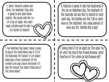 Valentines Themed: Multiplying Fractions