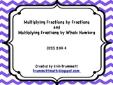 Multiplying Fractions Task Cards CCSS.5.NF.4