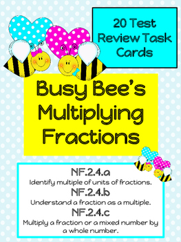 Multiplying Fractions Task Cards - Aligned with FSA and Co