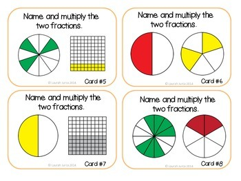 Math Task Cards: Multiplying Fractions {Enhanced with Augmented Reality}