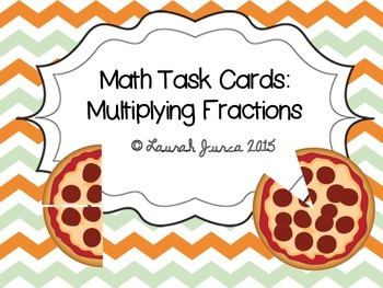 Math Task Cards: Multiplying Fractions {Enhanced with Augm
