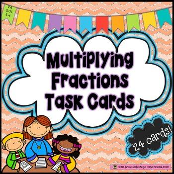 Multiplying Fractions Task Cards *Including models