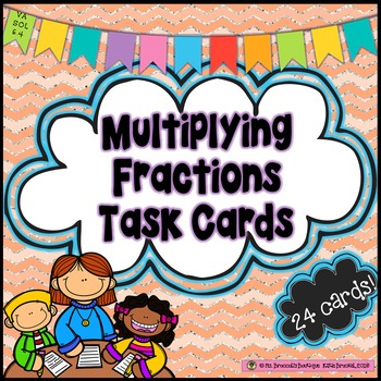 Multiplying Fractions Task Cards *Including models