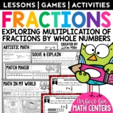 Multiplying Fractions Math Test Prep Task Cards