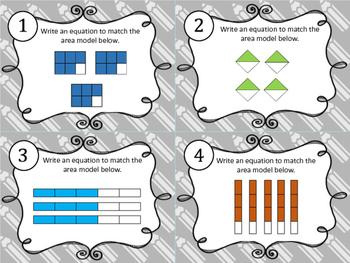 Multiplying Fractions Task Cards 5.3I, 5.NF.B.4, 4.NF.B.4