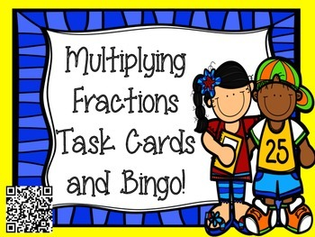 Multiplying Fractions Task Cards and Bingo Game!