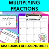 Multiplying Fractions Task Cards