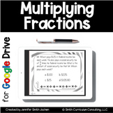 Multiplying Fractions Task Cards for Google Drive | Distan