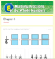 Multiplying Fractions Test 4th Grade (Go Math Chapter 8)