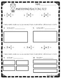 Multiplying Fractions Test (5.NF.B.4, 5.NF.B.4.a, 5.NF.B.6)