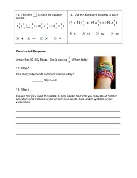 Multiplying Fractions Test or Review Sheet