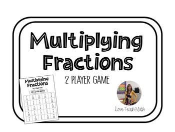 Multiplying Fractions Tic Tac Toe Game