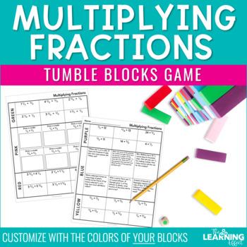 Multiplying Fractions Tumble Blocks Game