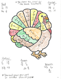 Multiplying Fractions Turkey