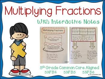 Multiplying Fractions Unit (5th Grade CC Aligned)