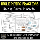 Multiplying Fractions Using Area Models Practice Packet (C