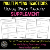 Multiplying Fractions Using Area Models Supplement (Common