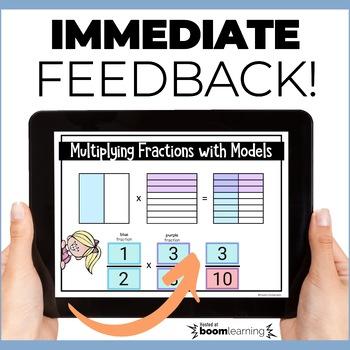 Multiplying Fractions Using Models Boom Cards